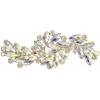 Crystal Motifs Fancy Swirl 10.5x4cm Crystal Aurora Borealis/gold